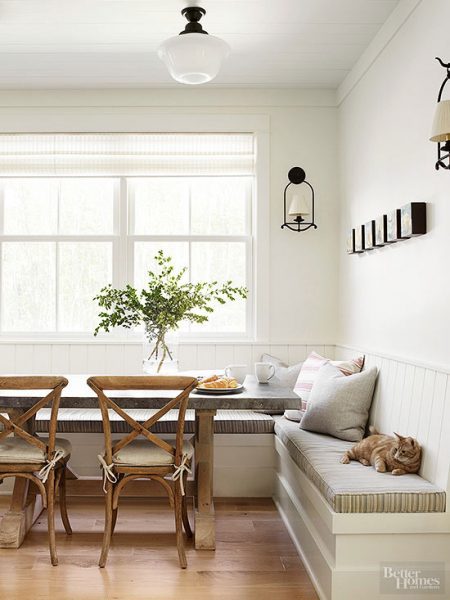 Breakfast nook dining table