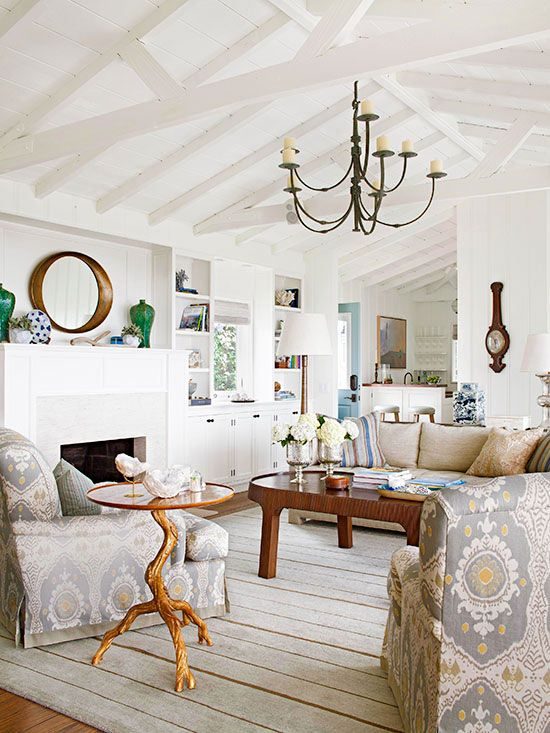Inspired By Wood Beam Amp Plank Ceiling Design The Inspired Room