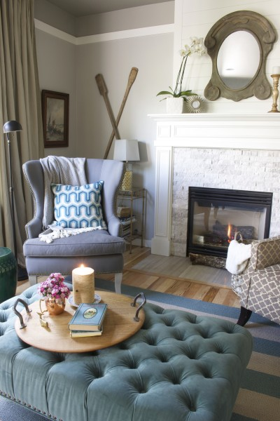 The Inspired Room Family Room Fireplace