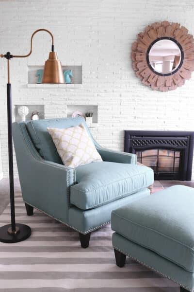 The Inspired Room Spring Refresh - Birch Lane Nailhead Larson Chair and Ottoman
