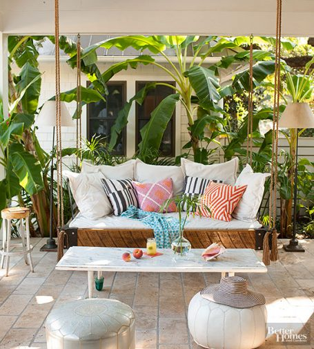 Hanging Outdoor Daybed - BHG