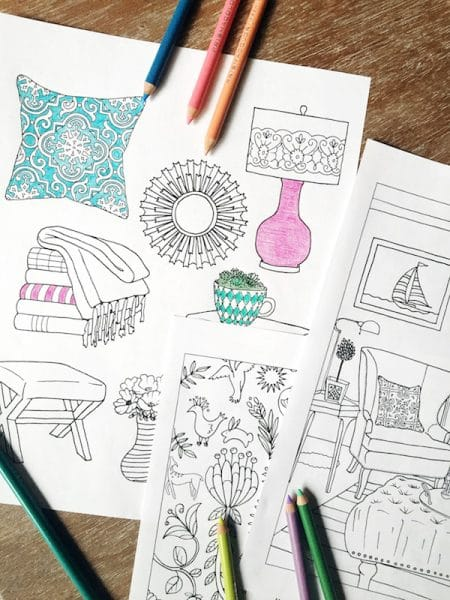 New Coloring Book for the Home - Interior Design - The Inspired Room Coloring Book