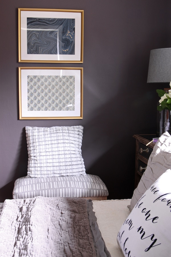 Master Bedroom Sneak Peek Black Frosted Plum Walls The Inspired Room