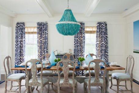 Turquoise Statement Beaded Light - Amanda Nisbet Design