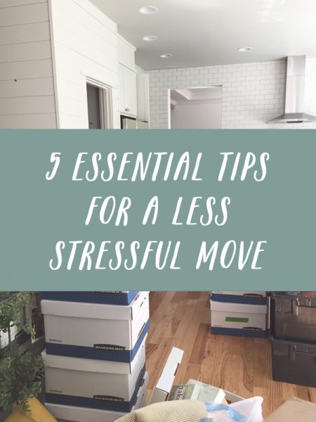 5 essential tips for a less stressful move