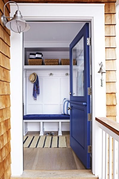 Blue Dutch Door - The Inspired Room House Makeover Inspiration