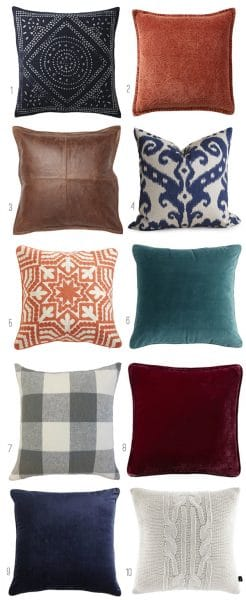 Pillows for Fall - Fall Nesting - The Inspired Room Fall Decorating