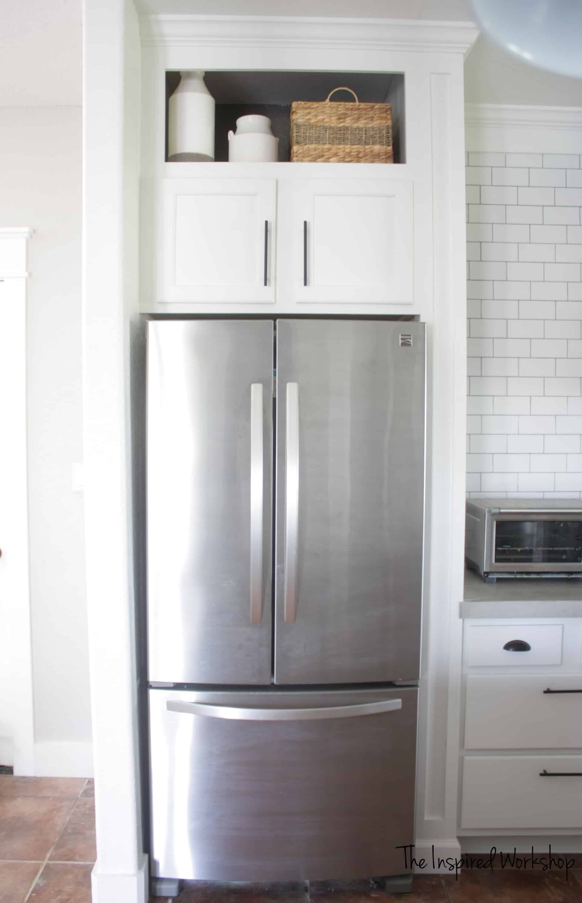 Building A Cabinet Above The Fridge Kitchen Renovation The
