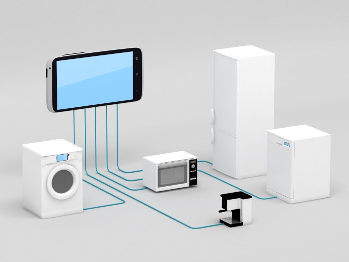 Internet of Things - Home Appliances Connected To Smartphone
