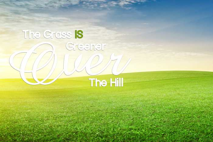 GRASS GREENER over the HIll-min