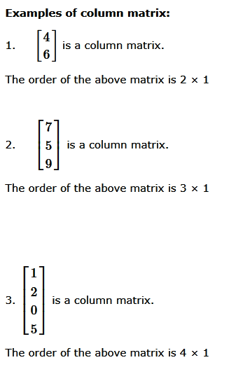 3.1 Column Matrix