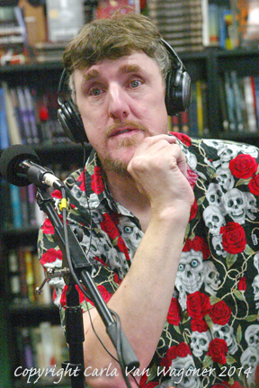 Actor Pat Jankiewicz participates in The IntelleXual podcast prior to the Chastity Bites DVD signing at Dark Delicacies in Burbank, CA on Feb. 16, 2014. Photo/Carla Van Wagoner-The IntelleXual