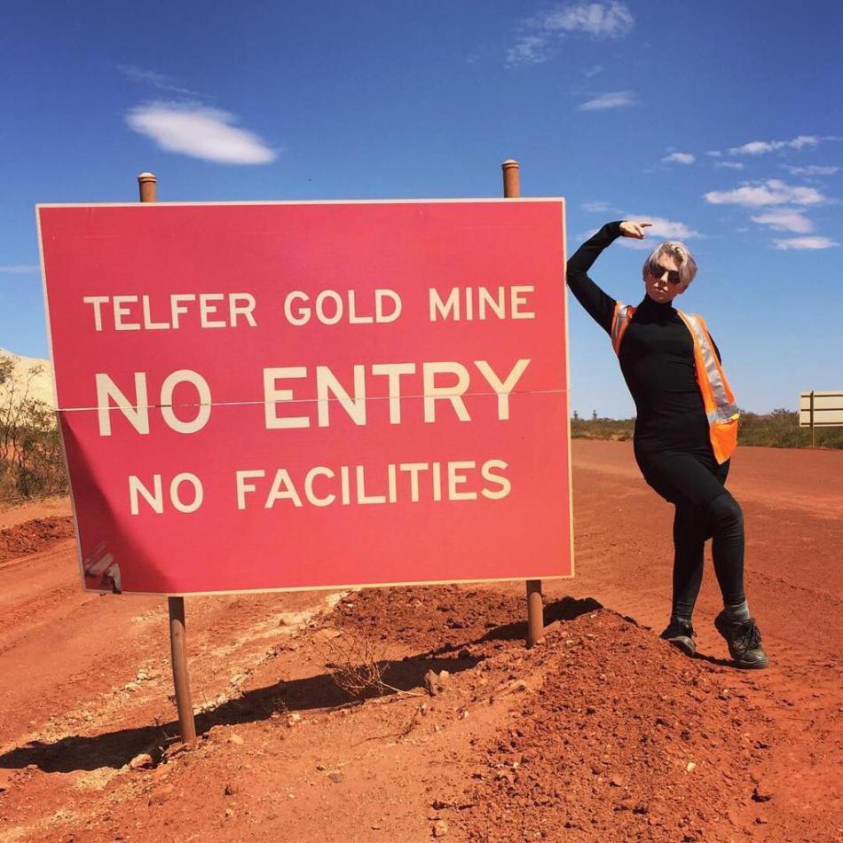 Alex onsite at Telfer mine in Australia. Image: Alex Moss