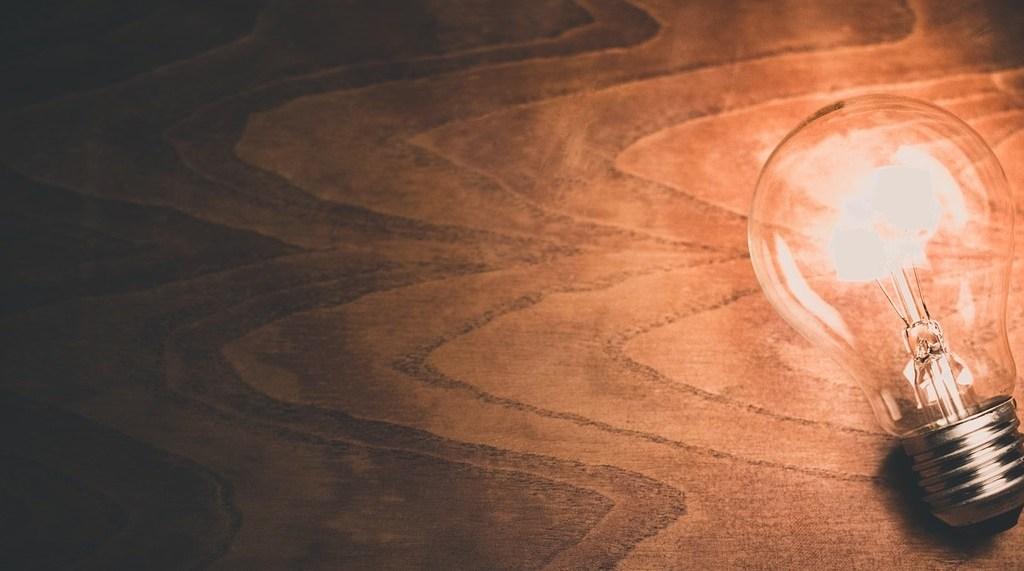 A light bulb moment. Image: Pixabay