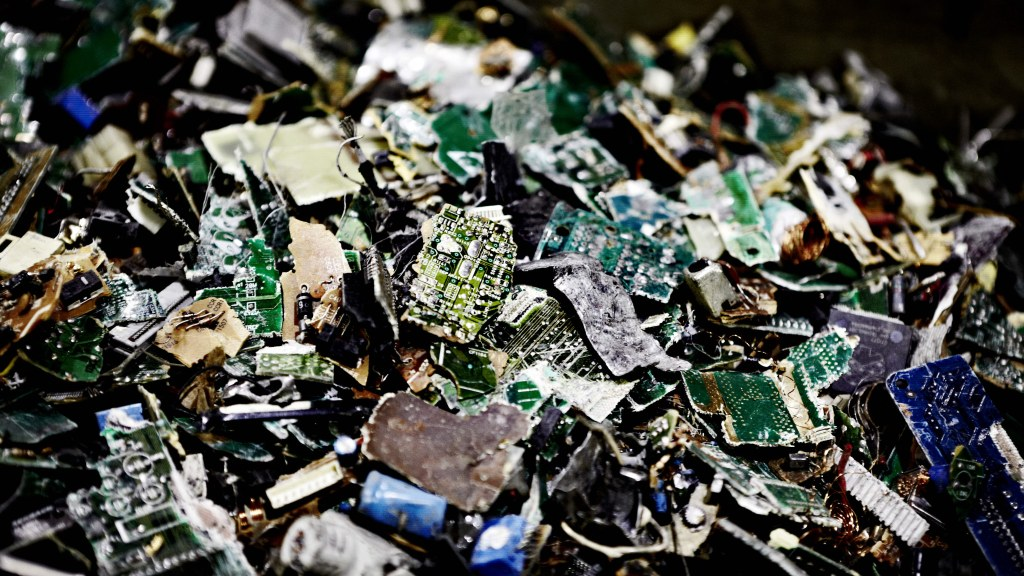 Crushed computer chips await recycling. Image: Boliden/Stefan Berg