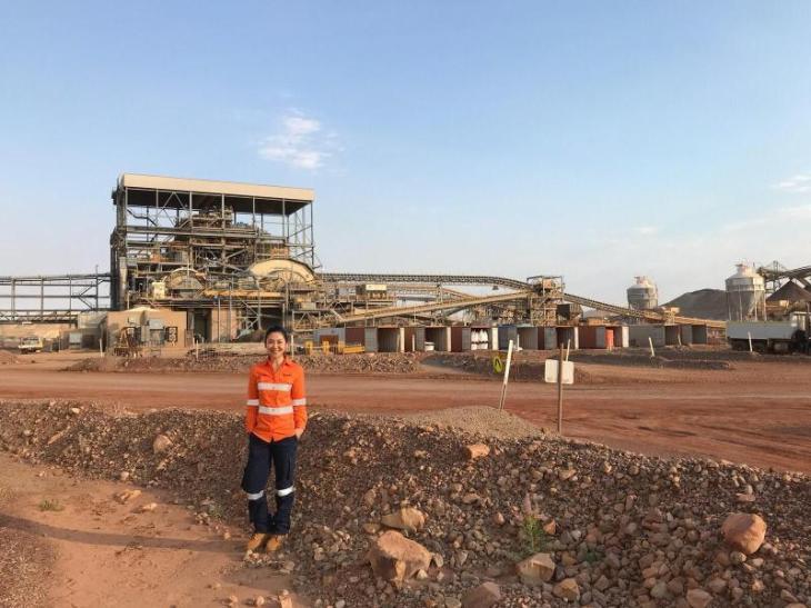 Wirya pictured at Newcrest's Telfer mine in Australia. Image: Friska Wirya