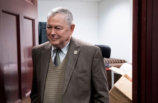 UNITED STATES - DECEMBER 5: Rep. Dana Rohrabacher, R-Calif., leaves the House Republican Conference meeting in the Capitol on Tuesday, Dec. 5, 2017. (Photo By Bill Clark/CQ Roll Call) (CQ Roll Call via AP Images)
