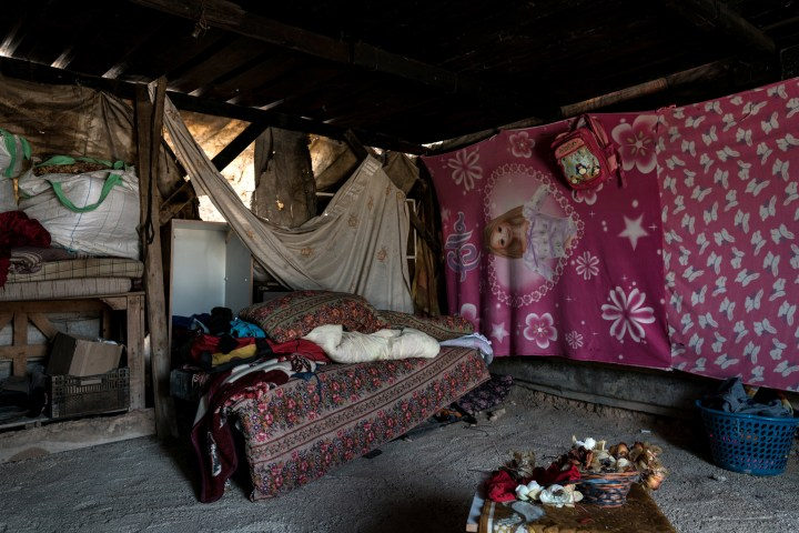 A picture shows the interior of a house at the Khan Al-Ahmar village on July 26, 2018