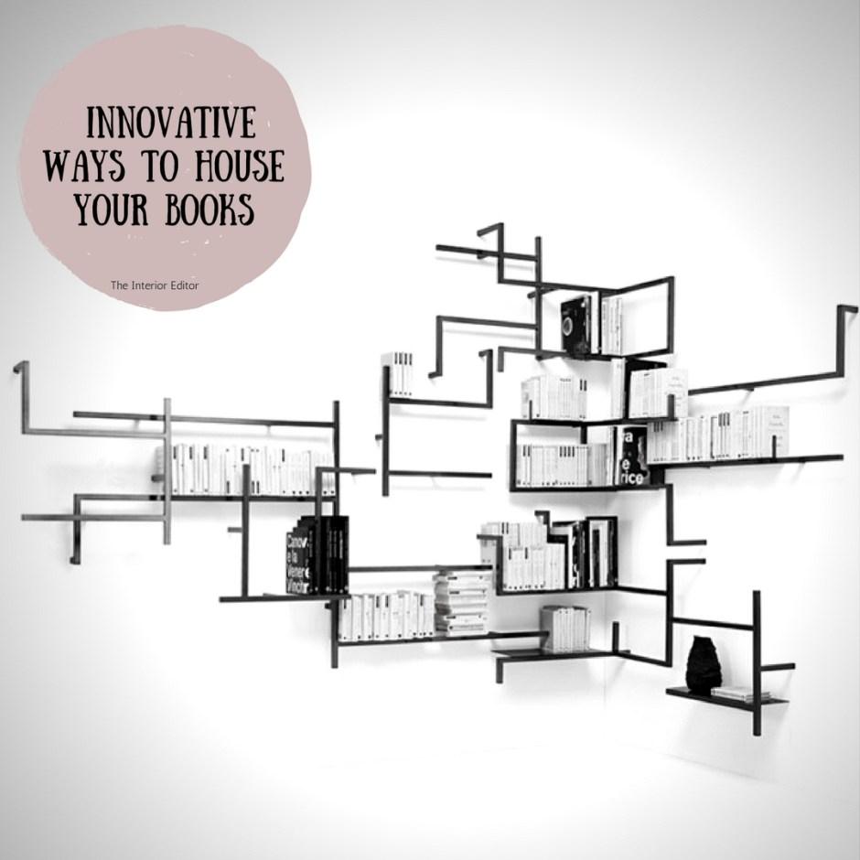 Innovative Ways to House Your Books, book shelves, book displays, home decor, home inspiration, interiors, interior inspo