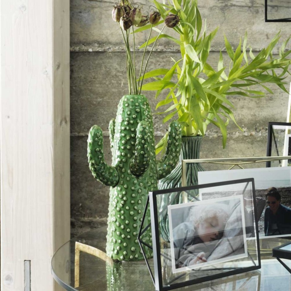 The Cactus Trend | Getting into the spirit of the Wild West, this fun cactus vase is all about the texture with its glossy green pimpled surface.
