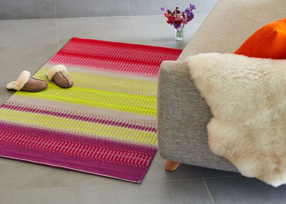 Handwoven Floor Art For Lovers of Colour - Angie Parker Textiles