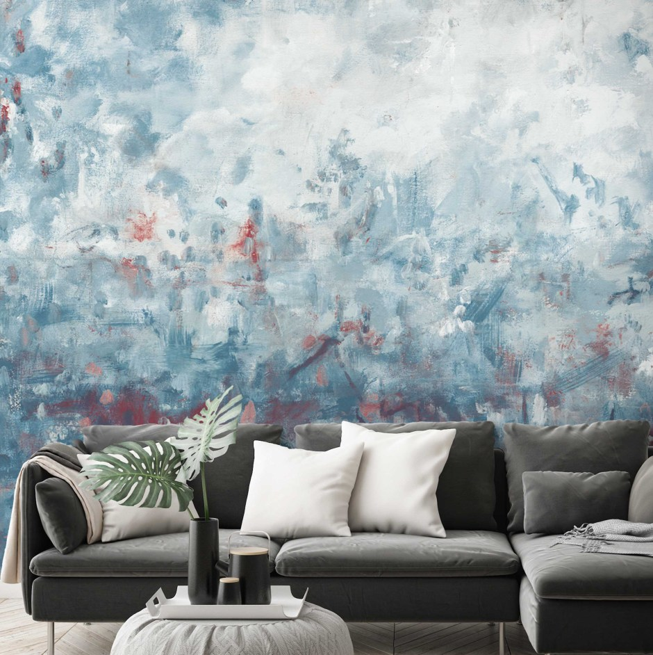 The Beauty of Blue In Your Home & How To Use It - Haze wallpaper by Barry Spence