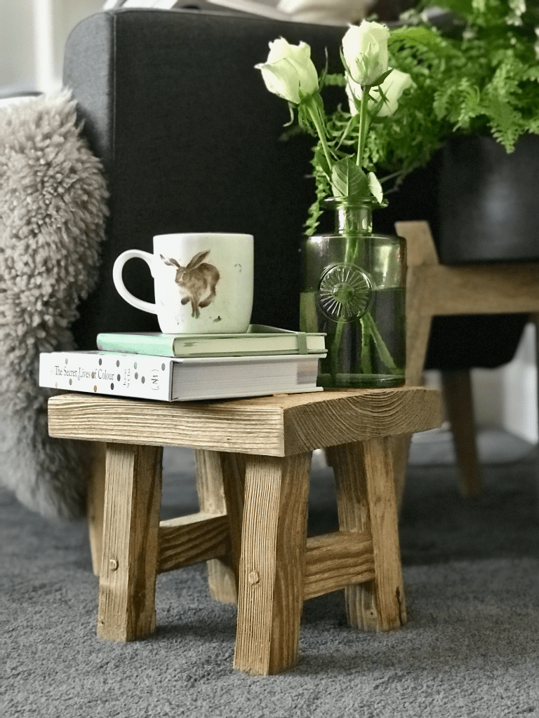 12 Essential Design Tips To Help Update ​Your Home | Buy artisan (handmade) pieces that you'll love and cherish like this handcrafted mini stool from Vincent Trading which is made from reclaimed wood.