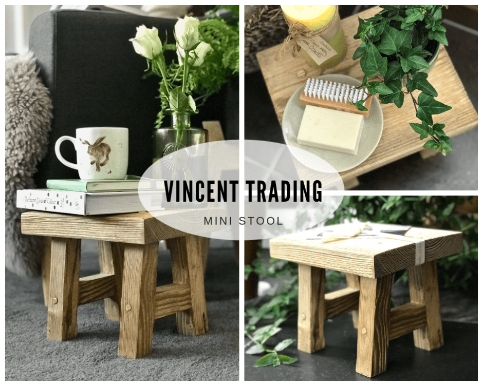 Vincent Trading's Versatile Mini Stool - Sustainable Design At Its Best!