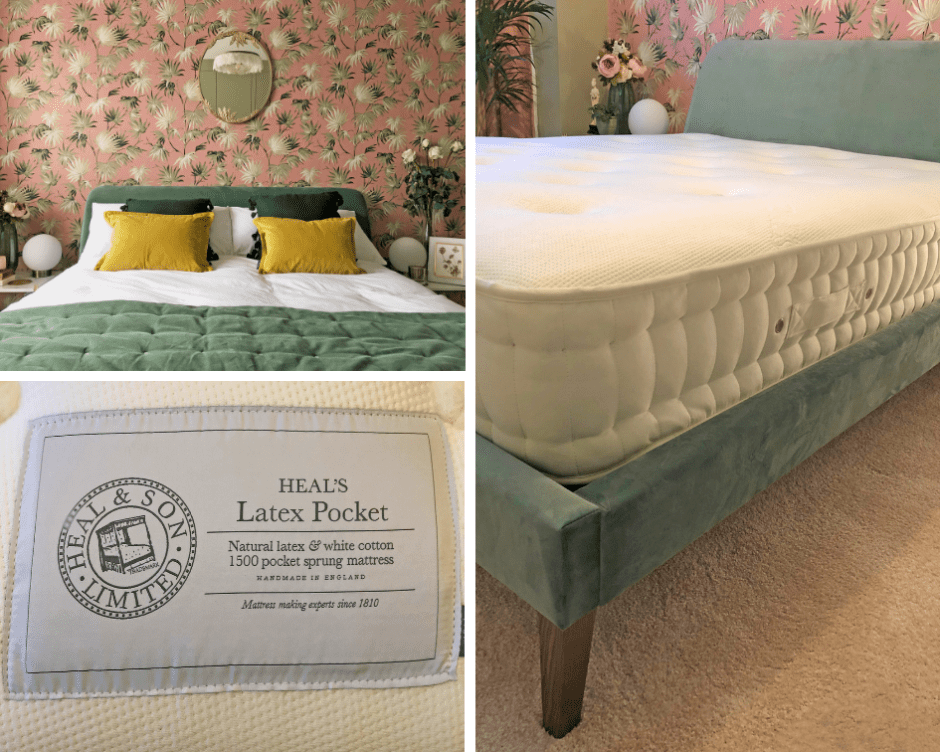 Our Decadent, Elegant Art Deco Inspired Bedroom Makeover - The Reveal! The Wallis bed from Heal's was a must for our bedroom as it fitted in with our decor choices and is super comfortable to sleep on. An unimposing design with simple clean lines.