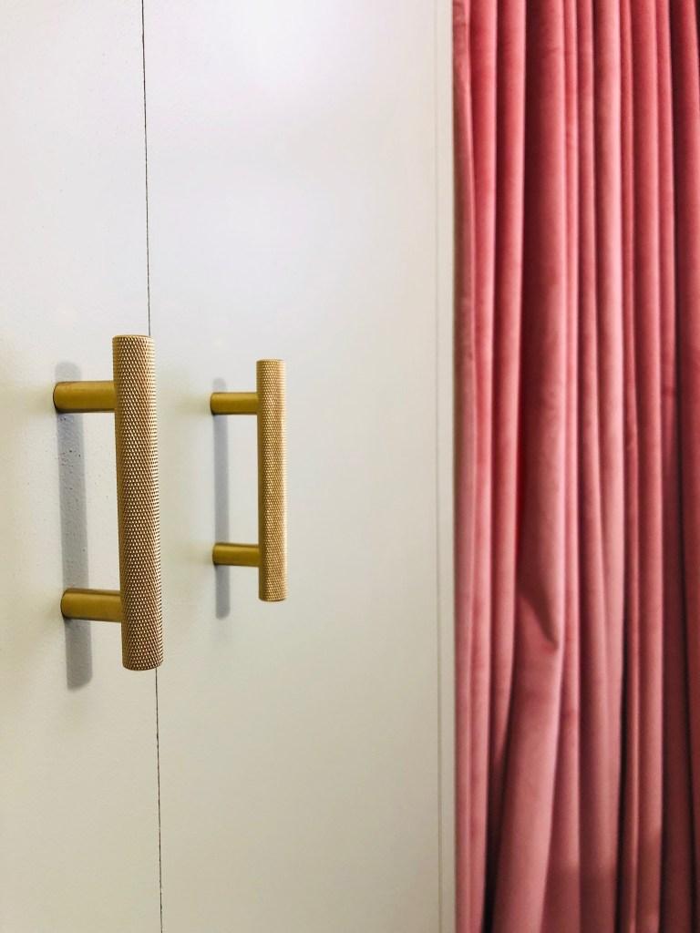 12 Essential Design Tips To Help Update Your Home | Decorative brass handles add interest to bespoke wardrobes.