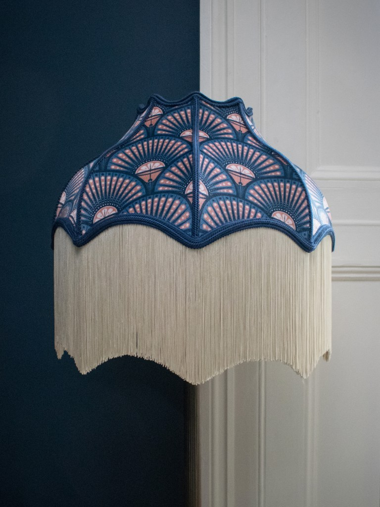 The Fringe Trend For Your Homes | Deco Martini Blush Lampshade from Divine Savages takes it's inspiration from the roaring twenties adding an Art Deco vibe to your homes.