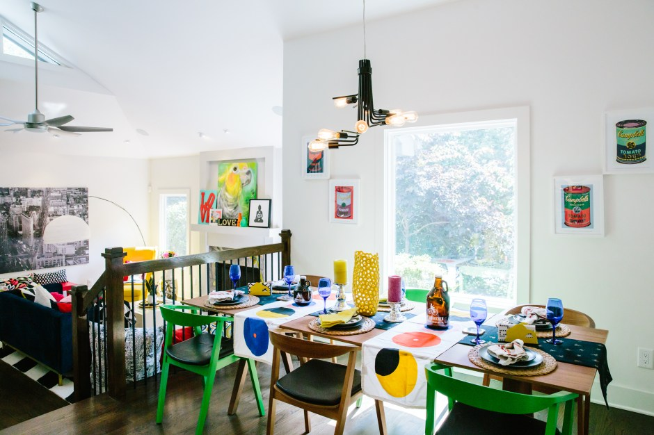 The Creative, Bold & Colourful Home of Paola Roder  | pop art features throughout Paola's vibrant colour and bold pattern filled home.