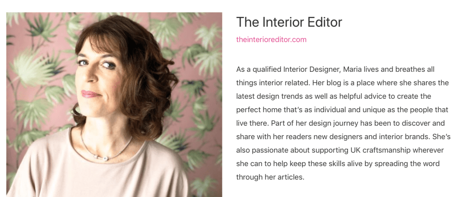 Nominated For Best Written Blog - Amara Blog Awards | Maria Jones, The Interior Editor
