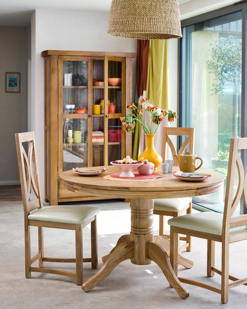 How To Choose The Perfect Dining Table For Your Home | Natural wood is perfect for family activities