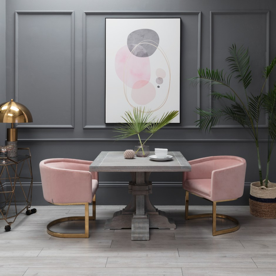How To Choose The Perfect Dining Table For Your Home | Square dining tables work best in square rooms as they offer you a sense of balance and symmetry. This square Cheshire Bistro Dining Table is from Sweetpea & Willow