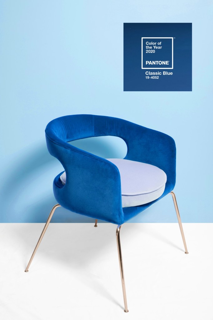 How To Use Classic Blue - Pantone's Colour Of The Year 2020 | Ellen dining chair in Classic Blue