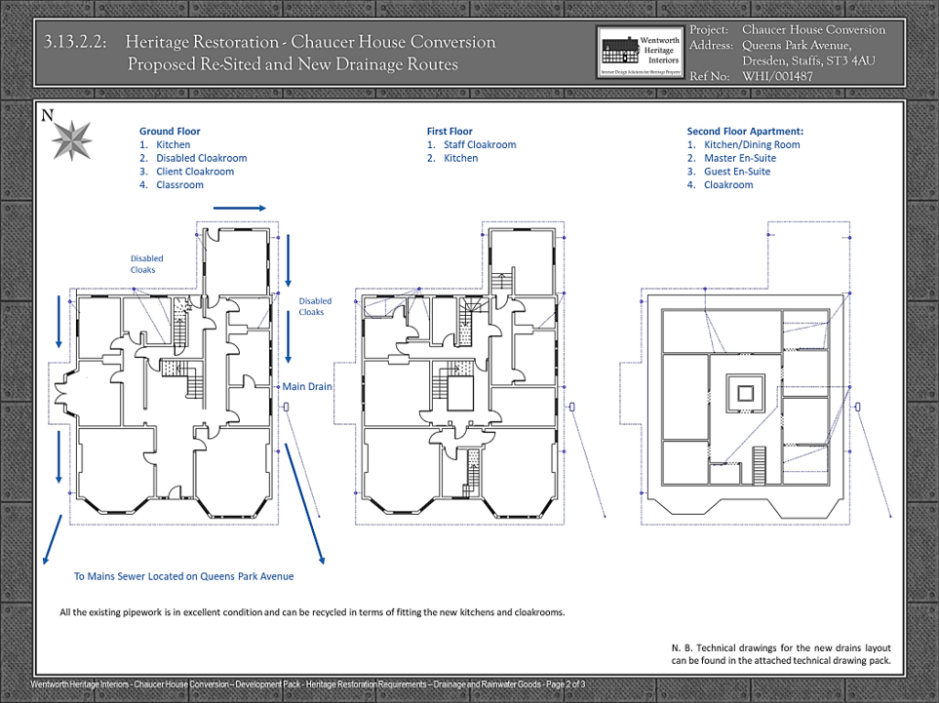 Wentworth Heritage - Design Solutions For Historic Properties - A Multi-Service Heritage Business - Floor plan of listed property