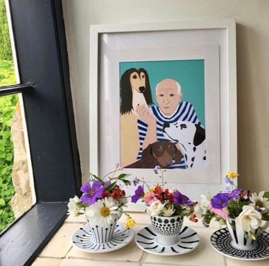 Karina Mansfield - Minimalist Pop Art For Your Homes | Pet and people portrait by Karina Mansfield