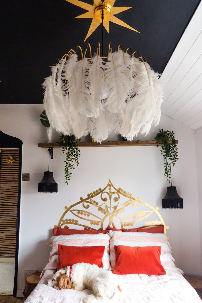 The Creative Eclectic Home of Gold Leaf Queen - Lara Bezzina - gold leaf ceiling star