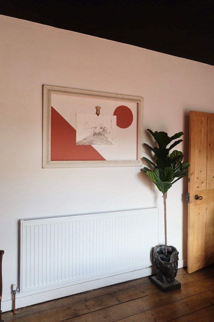 The Creative Eclectic Home of Gold Leaf Queen - Lara Bezzina - colour block wall art