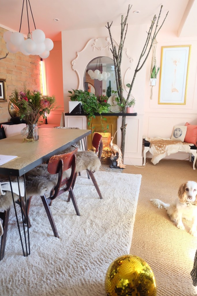 The Creative Eclectic Home of Gold Leaf Queen - Lara Bezzina - eclectic dining room