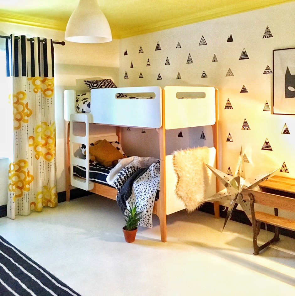 The Creative Eclectic Family Home of Aisling Kelly | boys batman bedroom