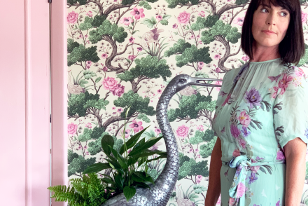 Romantic Whimsical Nature Inspired Bedroom Makeover - Part 2 The Reveal - Crane Bird Wallpaper Woodchip & Magnolia