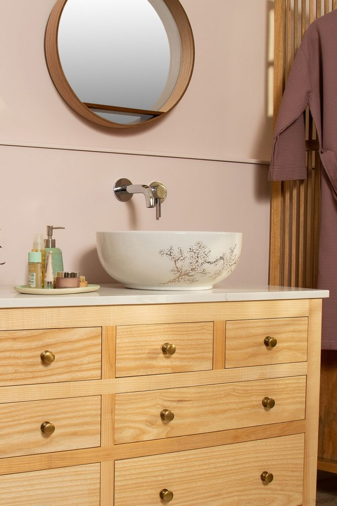 BLOSSOM BASIN Pretty & Delicate Floral Countertop Wash Basin Sink - The Way We Live London