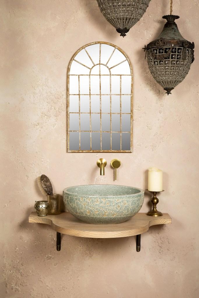 MAHRI Beautiful Boho Artisan Handmade Countertop Bathroom Wash Basin Sink - The Way We Live London