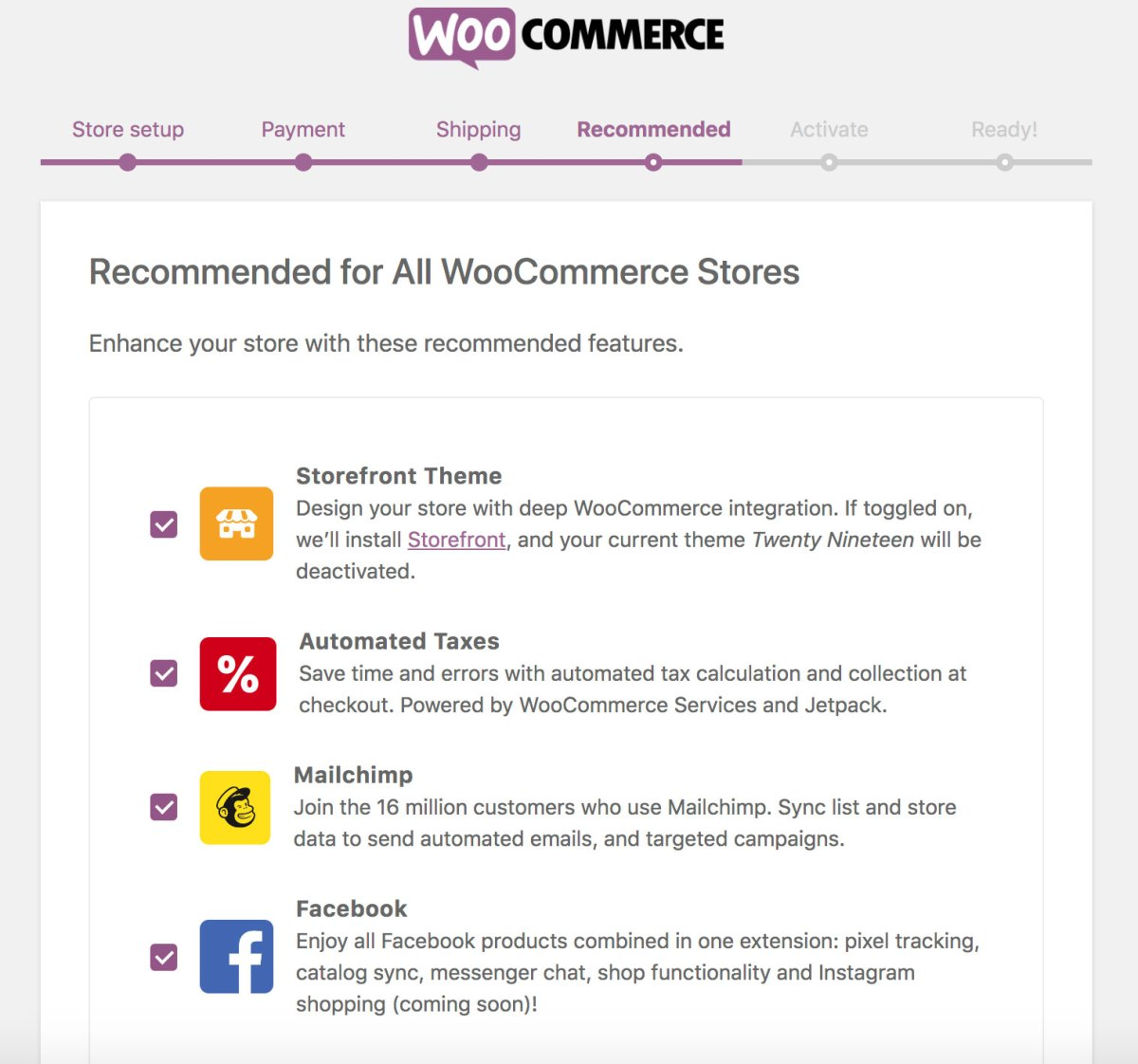2019 WooCommerce Recommendations