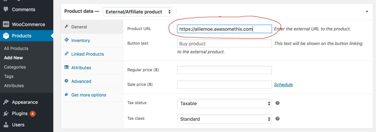 How to Add Affiliate Product to 2019 WooCommerce Step 2