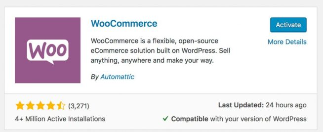 How to activate WooCommerce in 2019
