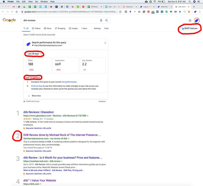 Image of the new Google SERP Tool