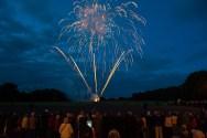 Fireworks illuminate the night sky in Edinburgh